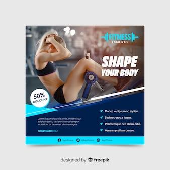 Vorm uw banner van de lichaamssport
