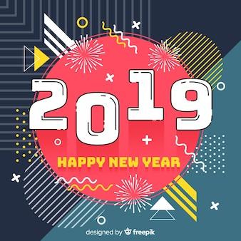 Vormt de achtergrond van het nieuwe jaar