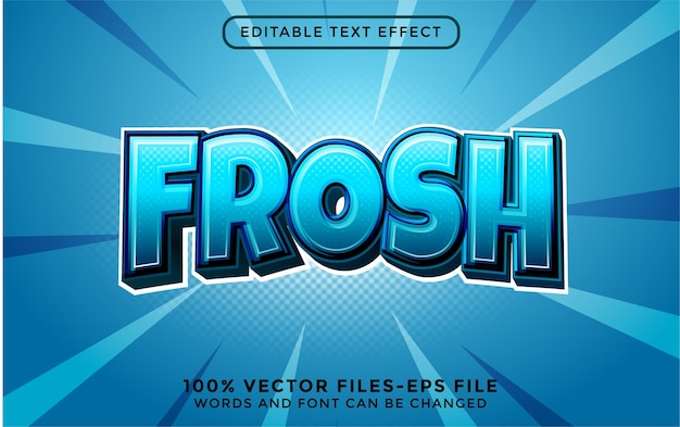 Vorst. bewerkbare teksteffect premium vectoren