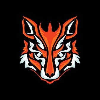 Vos hoofd logo-ontwerp