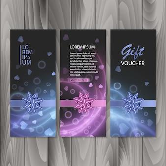 Voucher, cadeaubon. happy valentine's day gift banners