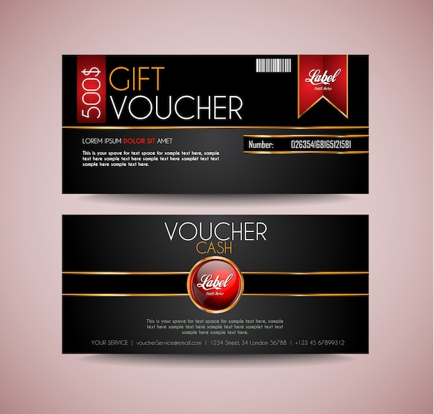 Voucher gift card lay-out sjabloon