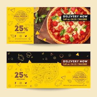 Voucher sjabloon voor pizzarestaurant