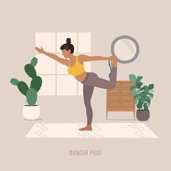 Vouw yoga pose jonge vrouw die yoga-oefening beoefent