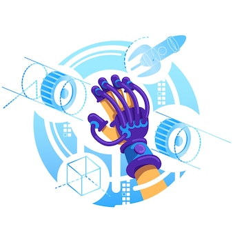 Vr-handschoen 2d-webbanner