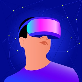 Vr-helm voor ruimtesimulatie en digitaal gamen