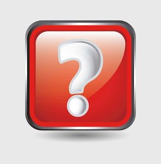 Vraag pictogram over witte achtergrond vectorillustratie
