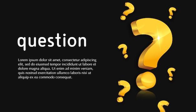 Vraagteken in 3d-ontwerp