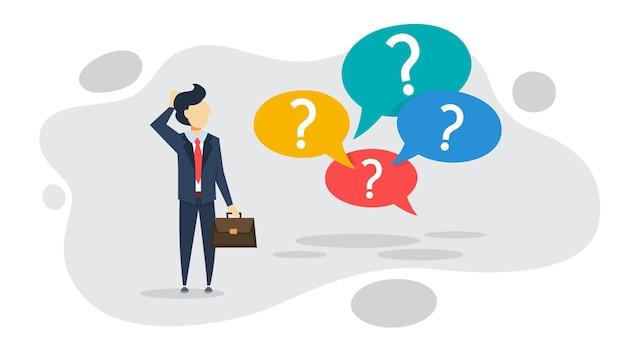 Vraagteken teken in tekstballon. vragen
