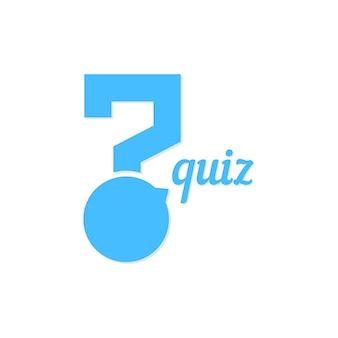 Vraagteken zoals quizknop. concept van faq, dialoog, interview, competitie, quizshow, quizzen, stemmen. geïsoleerd op een witte achtergrond. vlakke stijl trend moderne quiz logo ontwerp vectorillustratie