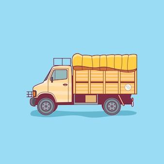 Vracht aflevervrachtwagen
