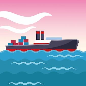 Vrachtschip cartoon