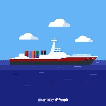 Vrachtschip maritieme engineering concept