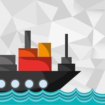 Vrachtschip op water beeld
