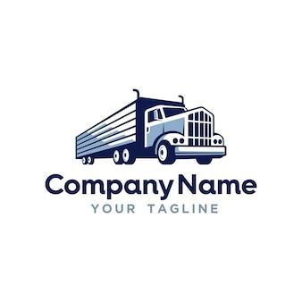 Vrachtvervoer levering logo sjabloon