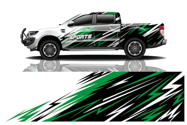 Vrachtwagen auto sticker wrap illustratie