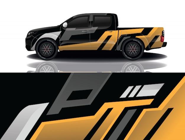 Vrachtwagen auto sticker wrap ontwerp