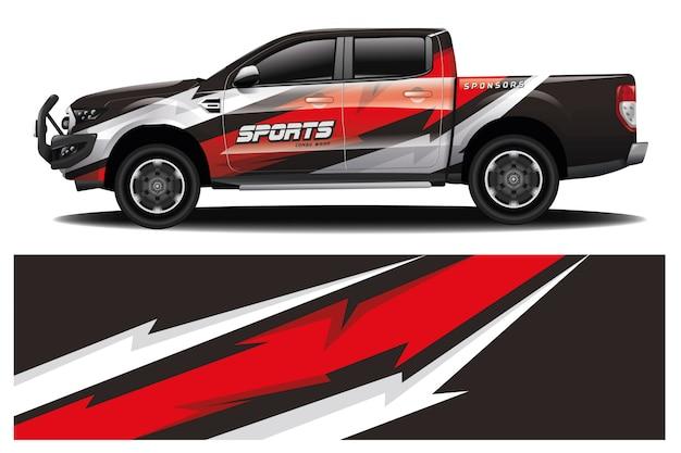Vrachtwagen auto wrap ontwerp