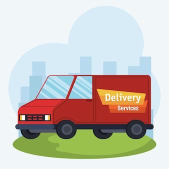 Vrachtwagen bezorgservice pictogram