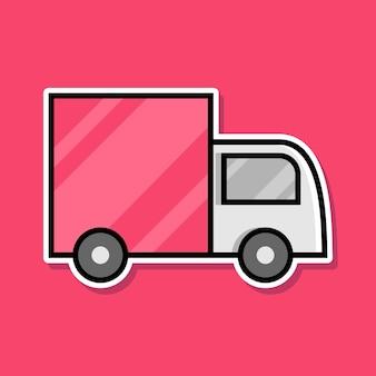 Vrachtwagen cartoon ontwerp