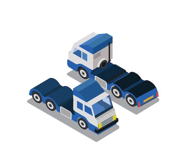 Vrachtwagen in isometrische weergave