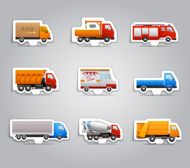 Vrachtwagen papieren stickers