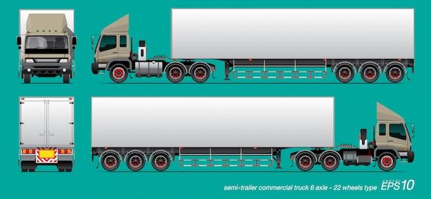 Vrachtwagen trailer