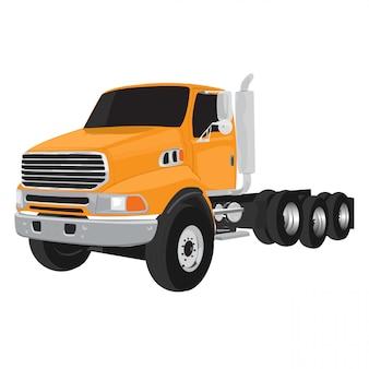 Vrachtwagen vectordieillustratie op witte achtergrond wordt geïsoleerd