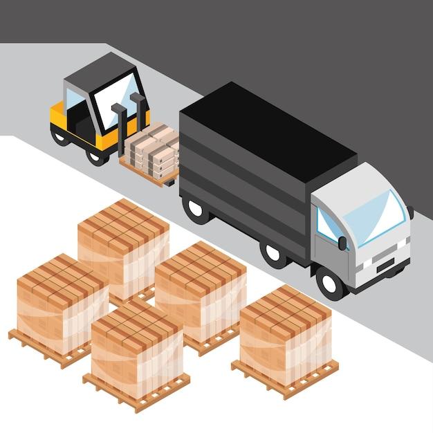 Vrachtwagen voor bezorgservice