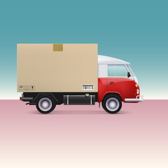 Vrachtwagen.