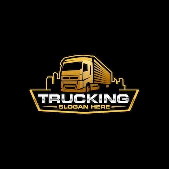 Vrachtwagenlogo sjabloon