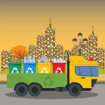 Vrachtwagentransport afvalverwerking