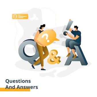 Vragen en antwoorden illustratie