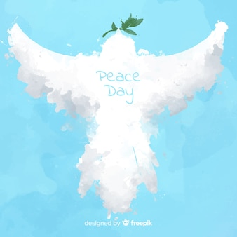 Vrede dag achtergrond met abstracte duif