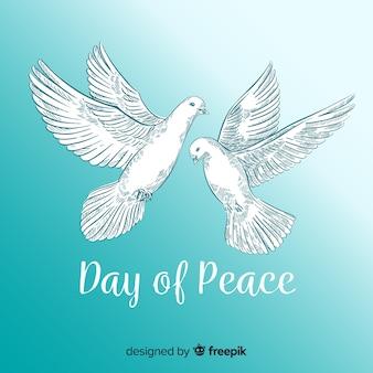 Vrede dag achtergrond met duif