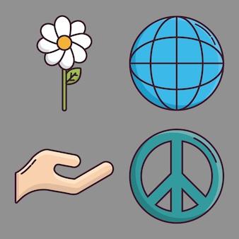 Vrede gerelateerde pictogrammen