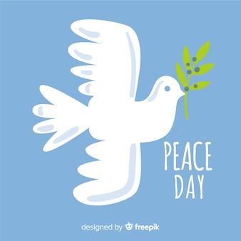 Vredesdag achtergrond met duif