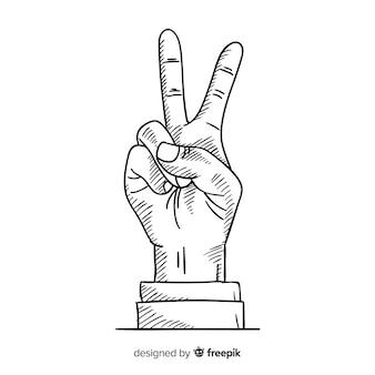 Vredesteken hand