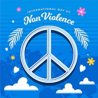 Vredesteken voor internationale geïllustreerde dag van geweld