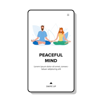 Vreedzame geest die jonge jongen en meisje mediteert