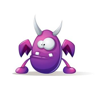 Vreselijk aardig monster. leuke, grappige illustratie.
