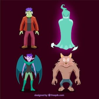 Vreselijk halloween karakters