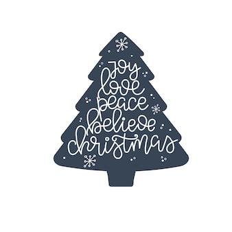 Vreugde liefde vrede geloof kerst belettering, motiverende citaat