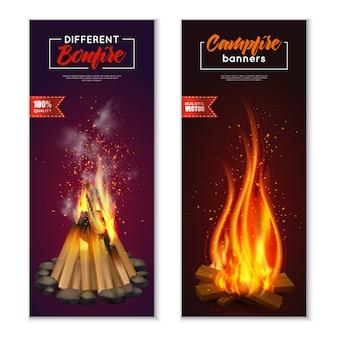 Vreugdevuur banners set