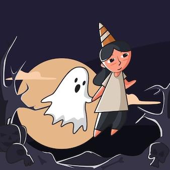 Vriend in halloween