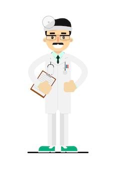 Vriendelijke jonge dokter in medisch uniform