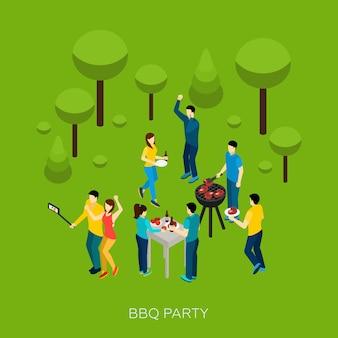 Vrienden bbq-feest