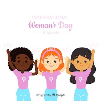 Vrienden samen de dagachtergrond van de vrouw