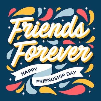 Vrienden voor altijd gelukkige vriendschap dag wenskaart