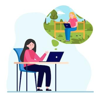 Vriendinnen chatten via laptopcomputer